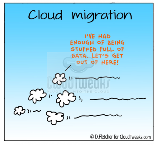 Cloud migration comic
